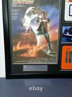 BACK THE FUTURE 1 &2 Movie PROP FRAME Christopher Lloyd Michael J Foxx un-signed