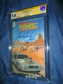 BACK TO THE FUTURE #8 CGC 9.8 SS Signed IDW Variant Christopher Lloyd DOC BROWN