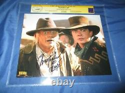 BACK TO THE FUTURE CGC SS Signed Movie Photo/Still CHRISTOPHER LLOYD/DOC BROWN