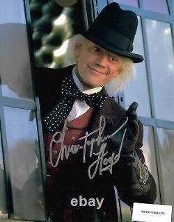 BACK TO THE FUTURE PT 3. Christopher Lloyd. Hand signed Colour 8x10 photo COA