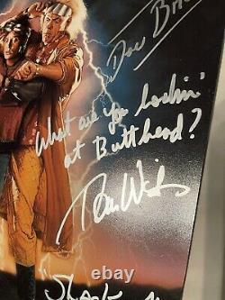 BACK TO THE FUTURE photo cast signed J Fox Christopher Lloyd autograph 5 Jsa