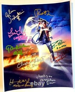 BACK TO THE FUTURE photo cast signed by Michael J Fox Christopher Lloyd auto COA