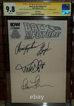 Back To The Future Blank CGC 9.8 Signed Michael J Fox Christopher Lloyd comic