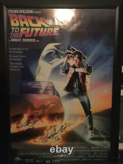 Back To The Future Michael J Fox And Christopher Lloyd Signed & Inscribed Poster