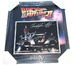 Back To The Future Michael J Fox Christopher Lloyd Signed 11x14 Framed Photo Bas