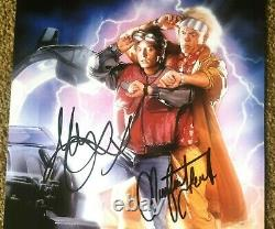 Back To The Future Signed Photo By Michael J Fox And Christopher Lloyd + Coa