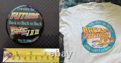 Back To The Future movie Trilogy DeLorean Time Machine T Shirt Pinback Button