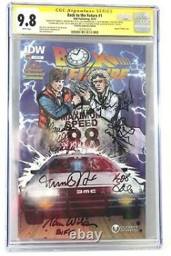 Back to the Future #1 CGC 9.8 SS Signed (6X) Michael J Fox Christopher Lloyd Lea