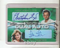 Back to the Future Christopher Lloyd & Lea Thompson autograph #4/#4 Pop Century