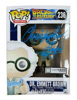 Back to the Future Funko Pop #236 Signed by Christopher Lloyd 100% Authentic COA