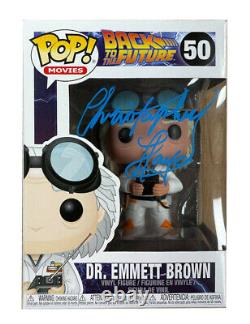 Back to the Future Funko Pop #50 Signed by Christopher Lloyd 100% Authentic COA