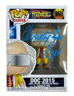 Back to the Future Funko Pop #960 Signed by Christopher Lloyd 100% Authentic COA