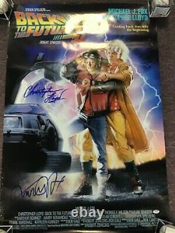 Back to the Future II Signed by Christopher Lloyd and Michael J Fox PSA/DNA COA