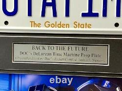 Back to the Future Signed Christopher Lloyd Movie Car License Plate Framed BAS