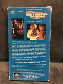 Back to the Future vhs French Canadian Version Robert Zemeckis 1989 rare htf