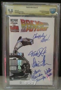 CBCS Grade 9.8 Back To The Future #1 IDW Michael J Fox Christopher Lloyd SIGNED