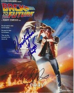 CHRISTOPHER LLOYD & MICHAEL J. FOX Signed Autographed BACK TO THE FUTURE Photo