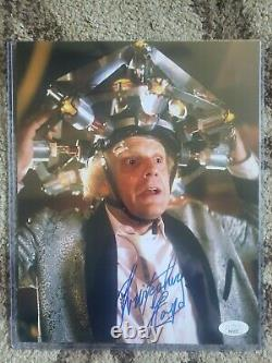 CHRISTOPHER LLOYD SIGNED 8x10 PHOTO! BACK TO THE FUTURE! JSA COA! DOC BROWN