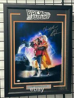 CHRISTOPHER LLOYD SIGNED BACK TO THE FUTURE 16x20 PHOTO FRAMED BECKETT BAS
