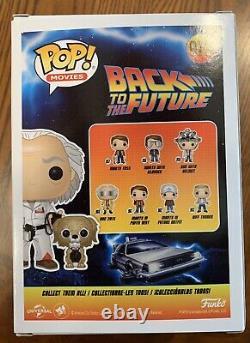 CHRISTOPHER LLOYD SIGNED FUNKO POP FIGURE! #972 BACK TO THE FUTURE Cert HOLOGRAM