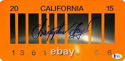 CHRISTOPHER LLOYD Signed BACK TO THE FUTURE 2 License Plate BAS # WE43172