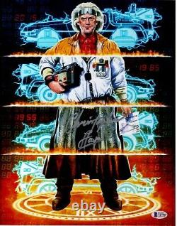 CHRISTOPHER LLOYD signed 11X14 Metallic Photo Back to the Future Doc Beckett