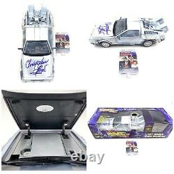 CHRISTOPHER LLOYD signed Back to the Future 2 1/15th Scale DeLorean Car JSA