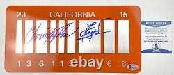 CHRISTOPHER LLOYD signed License Plate Back to the Future 2 Doc Brown Beckett