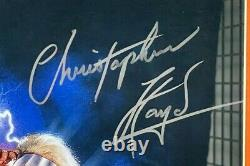 CHRISTOPHER SIGNED BACK TO THE FUTURE 16x20 PHOTO FRAMED BECKETT BAS WITNESS