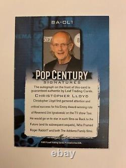 Christopher Lloyd /10 Autograph 2017 Leaf Pop Century Auto Back To The Future