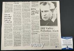 Christopher Lloyd Autographed Back To The Future Newspaper Signed BTTF BAS COA