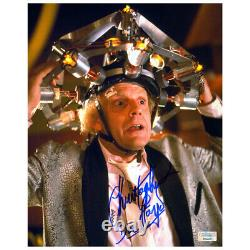 Christopher Lloyd Autographed Back to the Future Doc Brown 8x10 Photo