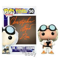 Christopher Lloyd Autographed Back to the Future Doc Emmett Brown #50 Pop! Vinyl