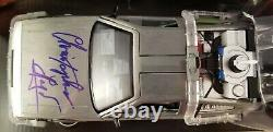 Christopher Lloyd Autographed Signed Back to the Future Delorean 1/24 Car JSA
