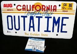 Christopher Lloyd Back To The Future OUTATIME Signed License Plate Beckett