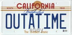 Christopher Lloyd Back To The Future Signed License Plate Auto Beckett Bas Coa 4