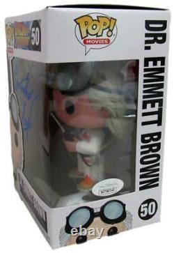 Christopher Lloyd Back to the Future Signed Funko Pop! #50 JSA 160063