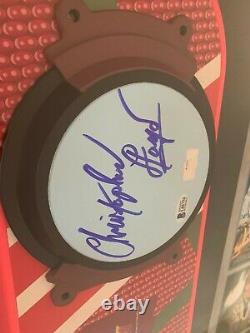 Christopher Lloyd Doc Brown signed Back to the future 2 Hoverboard RARE Beckett