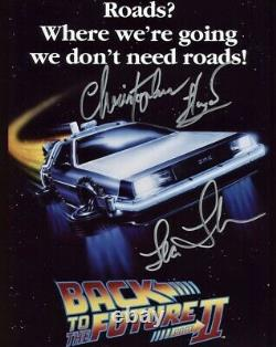 Christopher Lloyd & Lea Thompson HAND SIGNED 10x8 BACK TO THE FUTURE Photograph