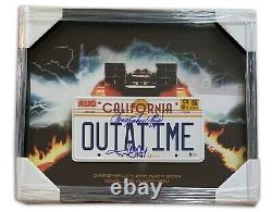 Christopher Lloyd Michael J Fox Back To The Future Signed Outatime Plate Beckett