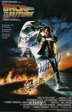 Christopher Lloyd Michael J. Fox Lea Thompson & Glover Signed Back To The Future