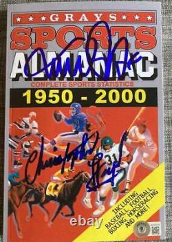 Christopher Lloyd Michael J. Fox Signed Autograph Back To The Future Almanac Bas