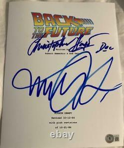 Christopher Lloyd Michael J Fox Signed Autograph Back To The Future Movie Script