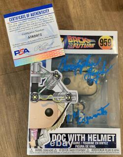 Christopher Lloyd Signed 1.21 Gigawatts Back To Future Doc Funko POP 959 PSA/DNA