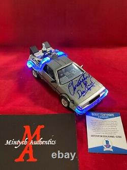 Christopher Lloyd Signed 1/24 Scale Diecast Delorean! Back To The Future Beckett