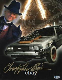Christopher Lloyd Signed 11x14 Photo Back To The Future Doc Brown Auto Beckett F