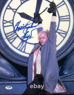 Christopher Lloyd Signed 11x14 Photo Back To The Future Doc Brown Auto Psa/dna I