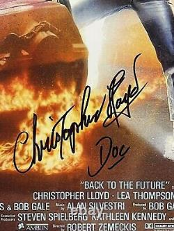 Christopher Lloyd Signed 12x18 Back To The Future Poster PSA Michael J Fox