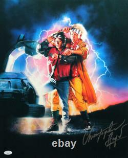Christopher Lloyd Signed 16x20 Photo Back to the Future II Poster- JSA Auth S