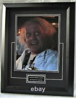 Christopher Lloyd Signed #2 Back To The Future with signing details AFTAL #199